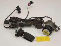 Audi A8 D2 FL Door Ignition Boot Lock and Key Set  (Item #184552)