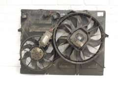Audi Q7 4L Cooling Radiator Twin Electric Fans in Panel 7L0121207G (Item #204679)