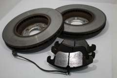 Audi A7 A4 B8 Front Brake Discs and Pads Pair 320x30mm 5x112 8K0615301A (Item #242149)