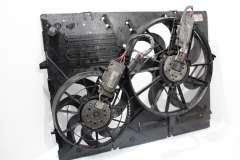 Audi Q7 4L Cooling Radiator Twin Electric Fans in Panel 7L0121203F (Item #252473)