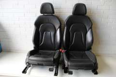 Audi A5 8T Coupe Black Leather Sport Front and Rear Folding Seats  (Item #279303)
